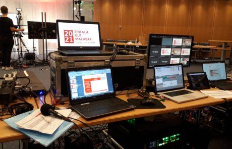 Hybrid-Event: Technikquipment in der Regie
