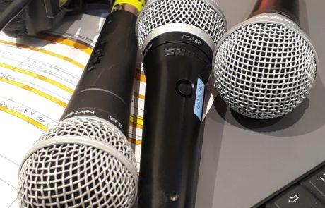 Ablaufregie Mikrofone