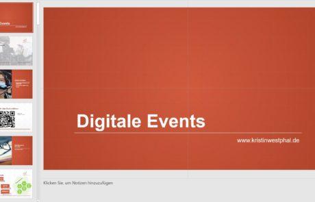 Präsentation digitale Events für die IECA Mannheim
